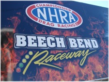 NHRA 1/4 Mile Drag Racing, Beech Bend Raceway, Bowling Green, Kentucky. click to enlarge.